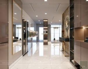 thiết kế nội thất chung cư 2 phòng ngủ - phòng khách bếp 1