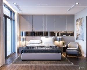 thiết kế nội thất chung cư 2 phòng ngủ - phòng ngủ master 1