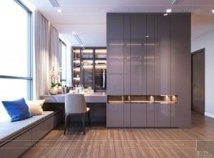 thiết kế nội thất chung cư 2 phòng ngủ - phòng ngủ master 3