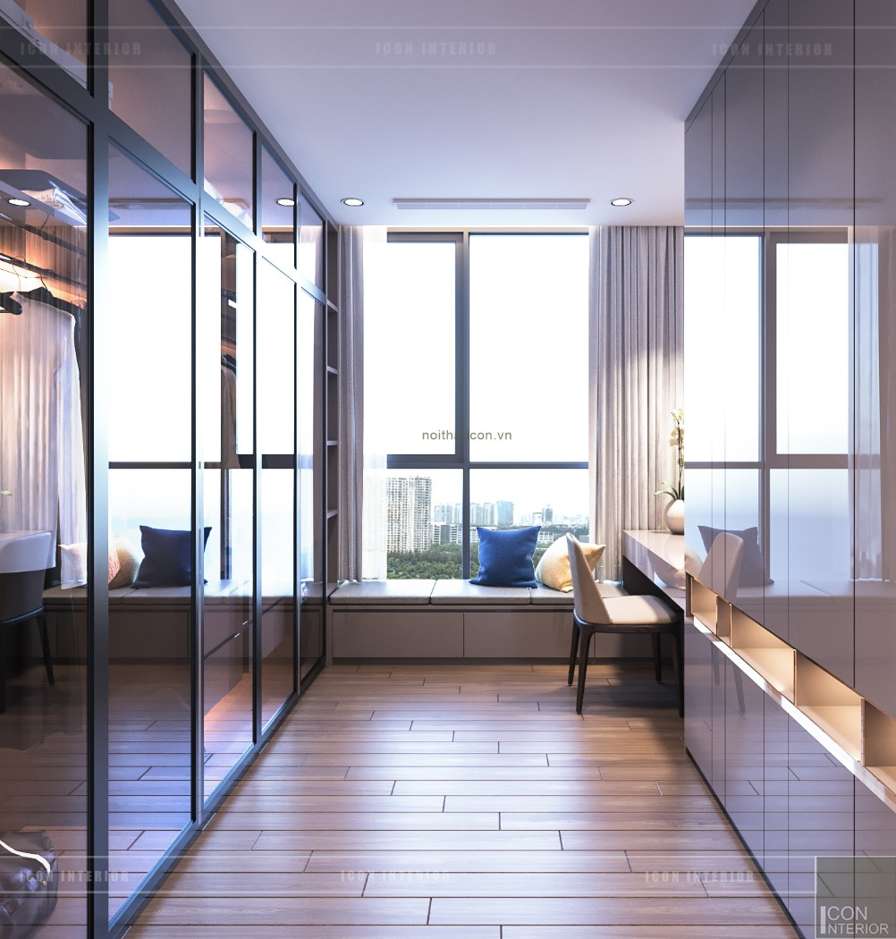 Thiết kế nội thất chung cư 70m2 Vinhomes Tân Cảng - phòng ngủ nhỏ