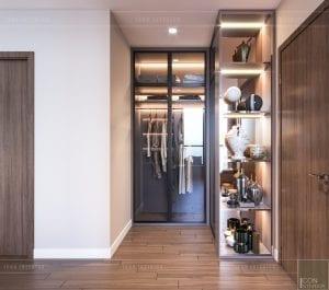 thiết kế nội thất chung cư 2 phòng ngủ - phòng ngủ master 5