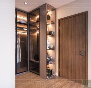 thiết kế nội thất chung cư 2 phòng ngủ - phòng ngủ master 6
