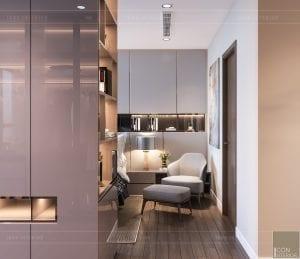 thiết kế nội thất chung cư 2 phòng ngủ - phòng ngủ master 8