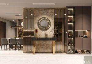 thiết kế nội thất chung cư 2 phòng ngủ - phòng khách bếp 2