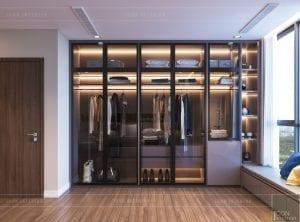 thiết kế nội thất chung cư 2 phòng ngủ - phòng ngủ master 9