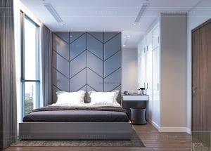 thiết kế nội thất chung cư 2 phòng ngủ - phòng ngủ nhỏ 2