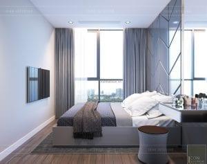 thiết kế nội thất chung cư 2 phòng ngủ - phòng ngủ nhỏ 1
