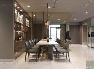thiết kế nội thất chung cư 2 phòng ngủ - phòng khách bếp 11