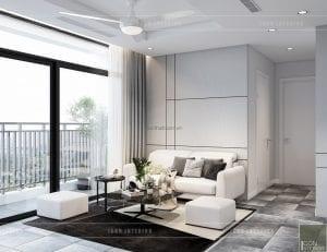 thiết kế nội thất chung cư vinhomes central park - phòng khách