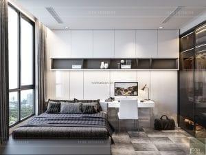 thiết kế nội thất chung cư 90m2 phòng ngủ