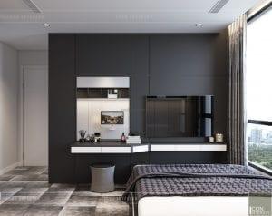 thiết kế nội thất chung cư vinhomes central park - phòng master