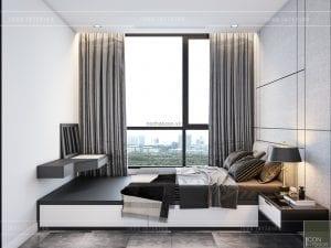 thiết kế nội thất chung cư 90m2 phòng ngủ nhỏ