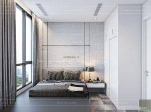 thiết kế nội thất chung cư vinhomes central park phòng ngủ nhỏ