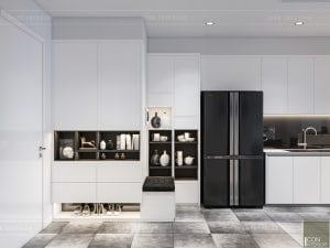 thiết kế nội thất chung cư vinhomes central park - tiền sảnh