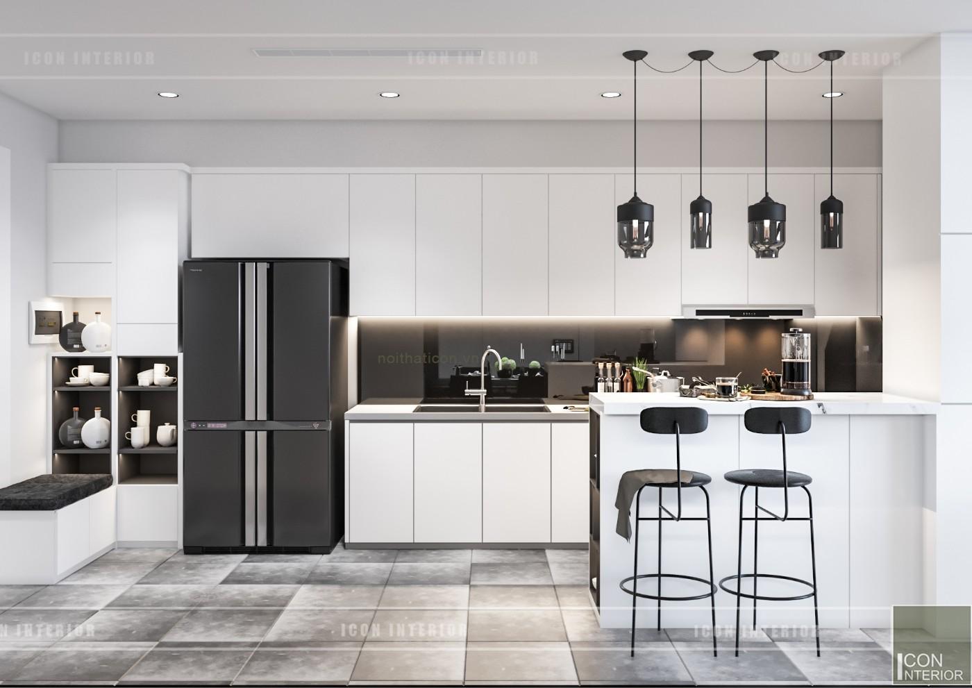 thiết kế nội thất chung cư vinhomes central park - nhà bếp