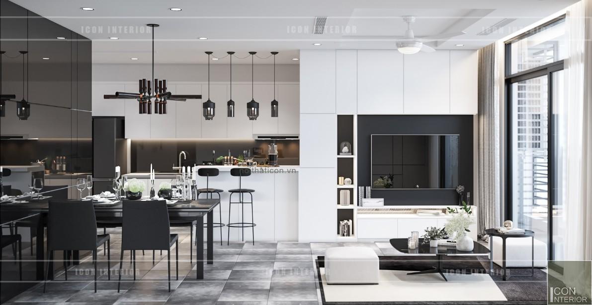 thiết kế nội thất chung cư vinhomes central park - quầy bar