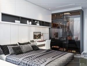 thiết kế nội thất chung cư vinhomes central park phòng ngủ