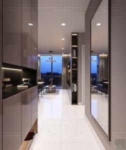 thiết kế căn hộ novaland richstar - tiền sảnh