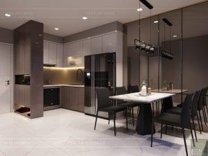 thiết kế căn hộ novaland richstar - phòng bếp