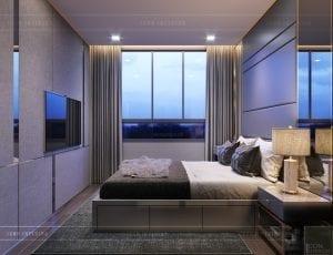 thiết kế căn hộ novaland richstar - phòng ngủ master 1