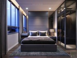 thiết kế căn hộ novaland richstar - phòng ngủ master 2