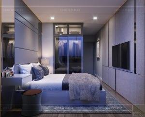 thiết kế căn hộ novaland richstar - phòng ngủ master 3