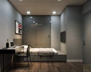 thiết kế căn hộ novaland richstar - phòng ngủ 1