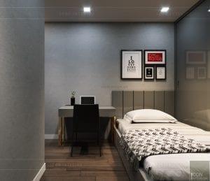 thiết kế căn hộ novaland richstar - phòng ngủ 2