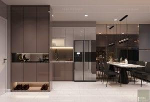 thiết kế căn hộ novaland richstar - phòng khách bếp 2