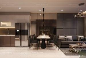 thiết kế căn hộ novaland richstar - phòng ăn