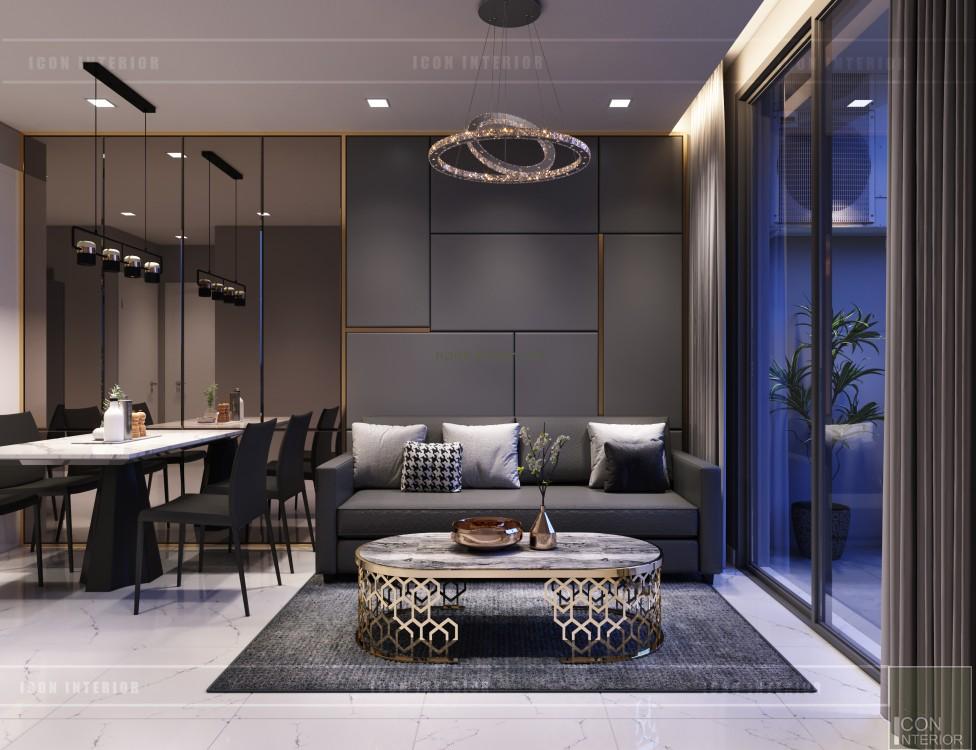 thiết kế căn hộ novaland richstar - phòng khách bếp 4