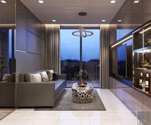 thiết kế căn hộ novaland richstar - phòng khách