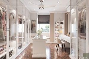 thiết kế nội thất phòng ngủ nhà phố - bàn trang điểm