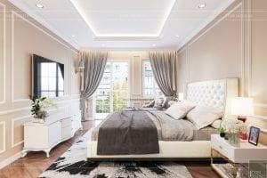 thiết kế nội thất phòng ngủ nhà phố - phòng ngủ
