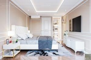 thiết kế nội thất phòng ngủ nhà phố phòng master