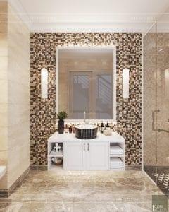 thiết kế nội thất phòng ngủ nhà phố - phòng vệ sinh