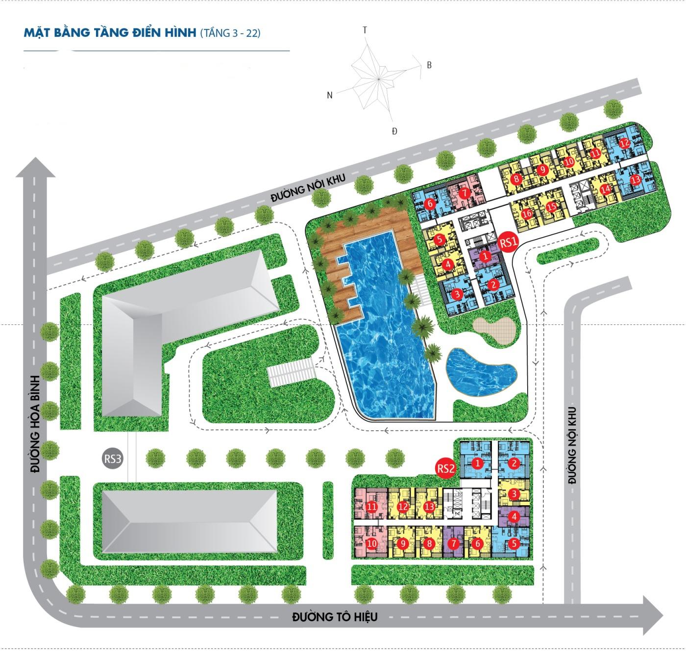 thiết kế căn hộ novaland richstar - mặt bằng 1