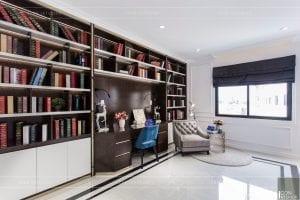 nội thất biệt thự tân cổ điển - phòng đọc sách 1