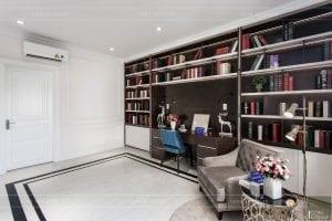 nội thất biệt thự tân cổ điển - phòng đọc sách 4