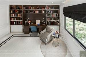nội thất biệt thự tân cổ điển - phòng đọc sách 6