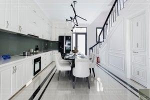 nội thất biệt thự tân cổ điển - phòng bếp