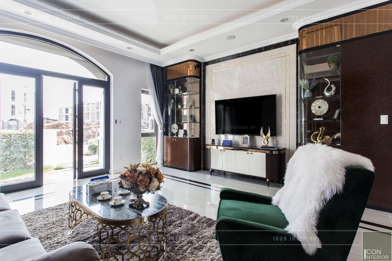 nội thất biệt thự tân cổ điển - phòng khách