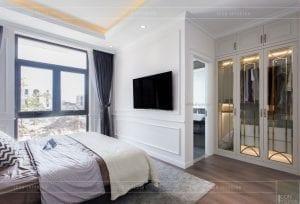 nội thất biệt thự tân cổ điển - phòng ngủ master 4