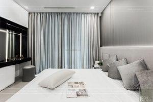 thi công căn hộ aqua 1 vinhomes golden river - phòng ngủ master 2