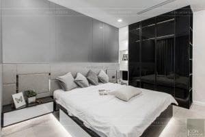 thi công căn hộ aqua 1 vinhomes golden river - phòng ngủ master 4