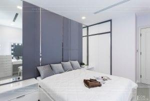 thi công căn hộ aqua 1 vinhomes golden river - phòng ngủ 3
