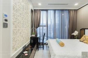 thi công nội thất gỗ phong cách Đông Dương - phòng ngủ