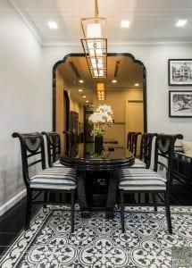 thi công nội thất gỗ phong cách Đông Dương phòng ăn