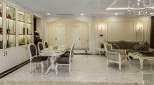 phong cách nội thất tân cổ điển - thiết kế phòng khách bếp 14