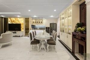 phong cách nội thất tân cổ điển - thiết kế phòng khách bếp 18